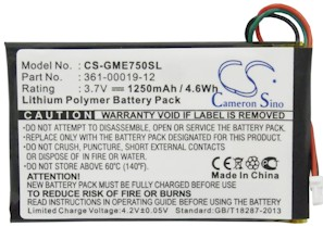 Garmin 361-00019-12 Battery Replacement