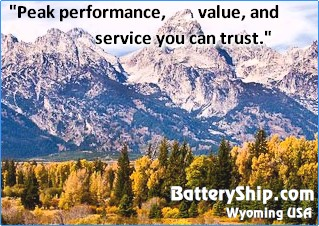 BatteryShip.com Wyoming USA